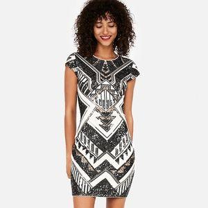 2ef6d21986c7 Women Express Art Deco Sequin Dress on Poshmark